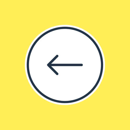 Vector Illustration Of Pointing arrow back Outline. Beautiful Arrows Element Also Can Be Used As Left Element.