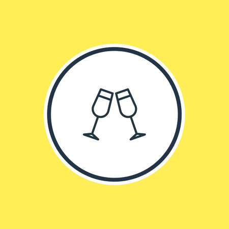 champagne celebration: Vector Illustration Of Beverage Outline. Beautiful Beverage Element Also Can Be Used As Celebrate Element.