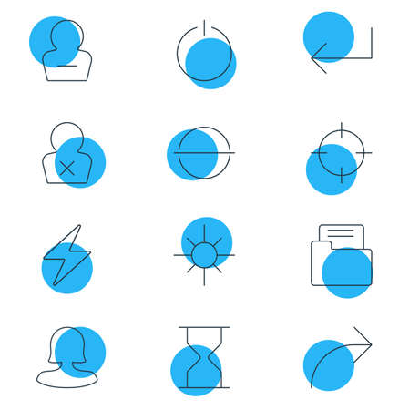 Vector Illustration Of 12 Interface Icons. Editable Pack Of Screen Capture, Hourglass, Share And Other Elements.