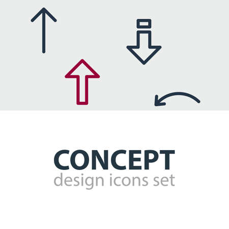 Vector Illustration Of 4 Sign Icons. Editable Pack Of Up, Undo, Upwards And Other Elements.