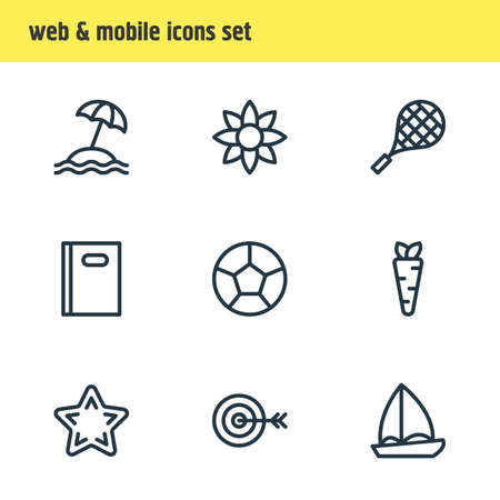 advantages: Vector Illustration Of 9 Joy Icons. Editable Pack Of Soccer, Petal, Veggie And Other Elements.
