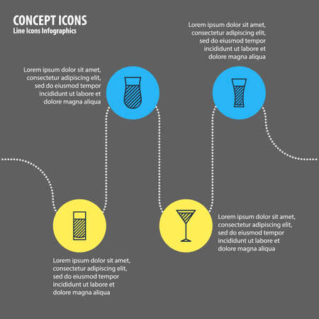 Editable Pack Of Martini, Lemonade, Aqua And Other Elements.  Vector Illustration Of 4 Beverage Icons. Illustration