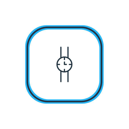 Beautiful Dress Element Also Can Be Used As Hand Clock Element.  Vector Illustration Of Watch Outline. Illustration