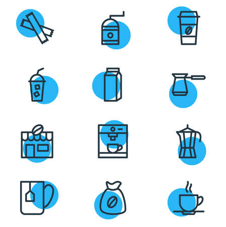 Editable Pack Of Turkish, Mill, Soft Beverage And Other Elements.  Vector Illustration Of 12 Java Icons.