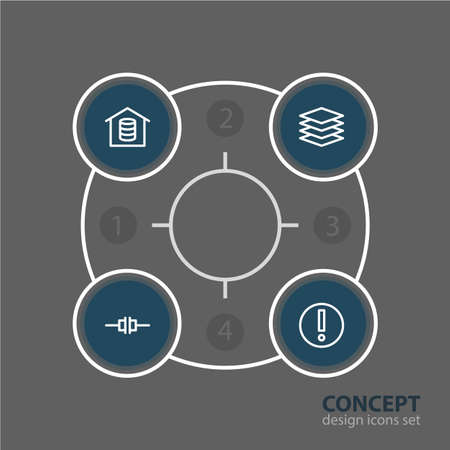 Editable Pack Of Disconnected, Datacenter, Mistake And Other Elements.  Vector Illustration Of 4 Network Icons.