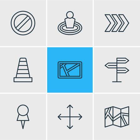 Illustratie van verschillende pictogrammen.