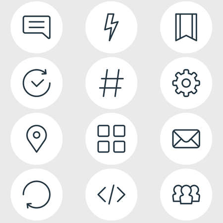 Script related icons.