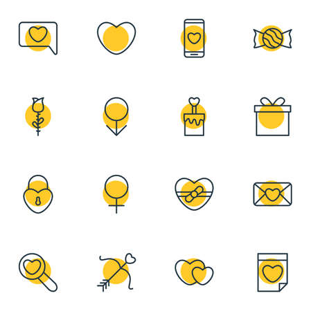 Human passion related icons. Illustration