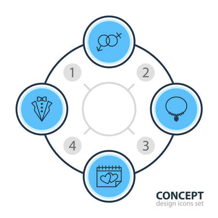 Engagement plan related icons. Illustration