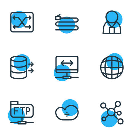 Data network related icons.