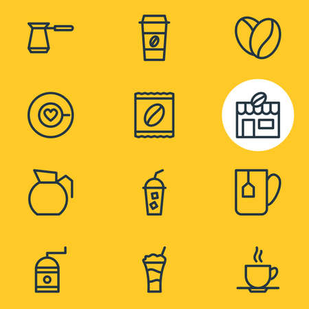 Different drinks related icons.