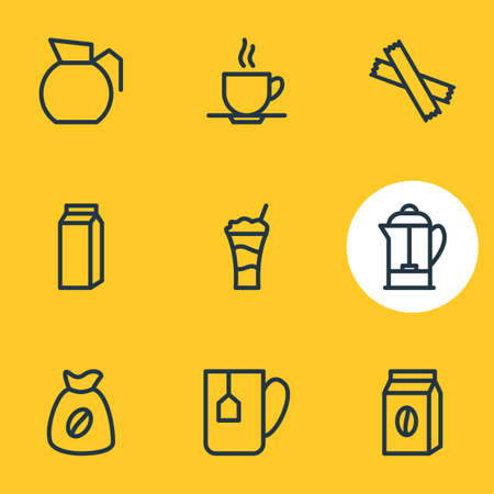 Set of different sweeteners icon.