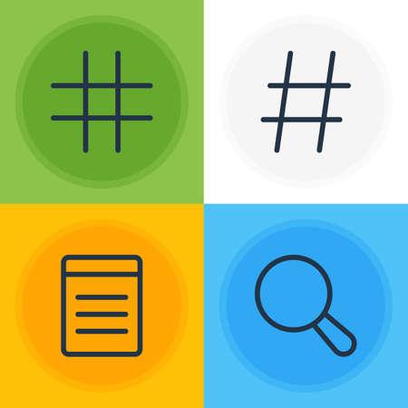 Vector Illustration of 4 App Icons. Illusztráció