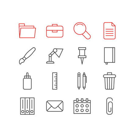Illustration of 16 instruments icons.