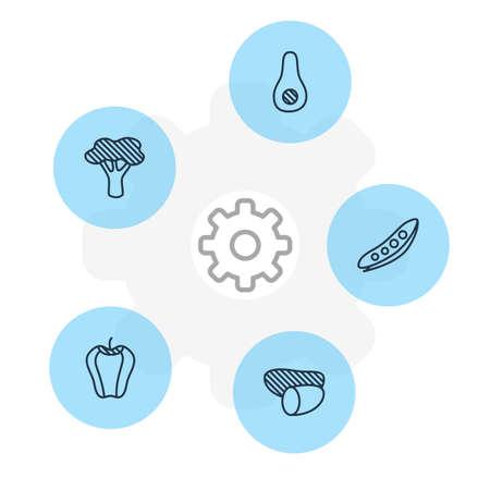 Set of food icons. Illustration