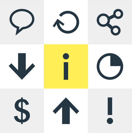 Vector Illustration Of 9 Member Icons. Editable Set Of Info, Money Making, Renovate And Other Elements.