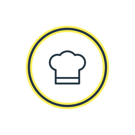Vector Illustration Of Cook Hat Outline. Beautiful Entertainment Element Also Can Be Used As Chef Element.