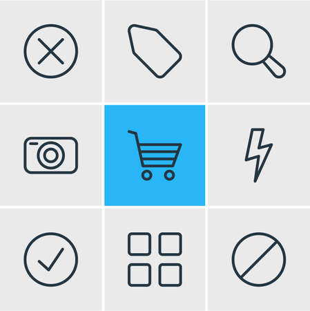 Illustration of 9 app icons