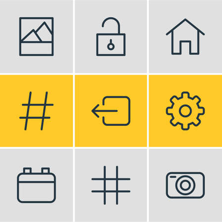 Illustration of 9 application icons