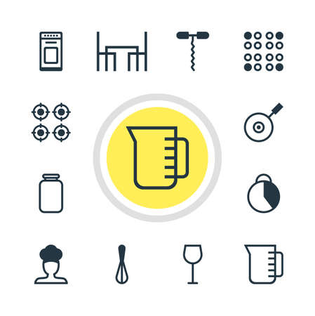 Vector illustration of 12 cooking icons.