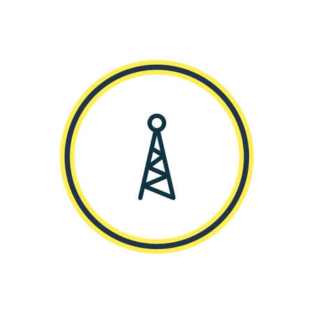 illustration of network icon line. Beautiful music element also can be used as antenna icon element.