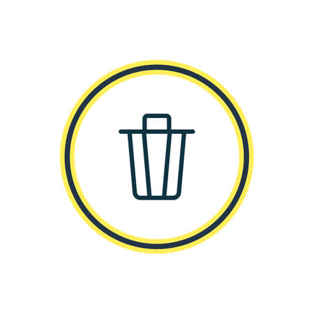 illustration of trash can icon line. Beautiful annex element also can be used as garbage container icon element. Stock fotó