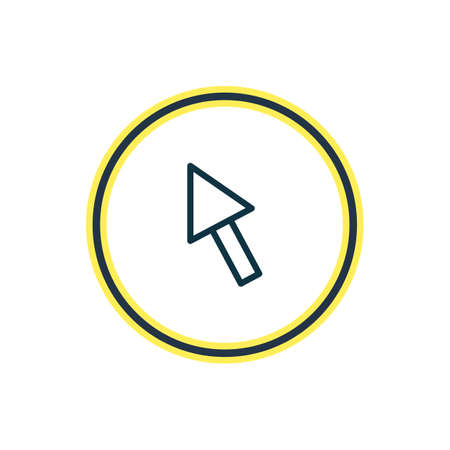 illustration of arrow icon line. Beautiful music element also can be used as cursor icon element.