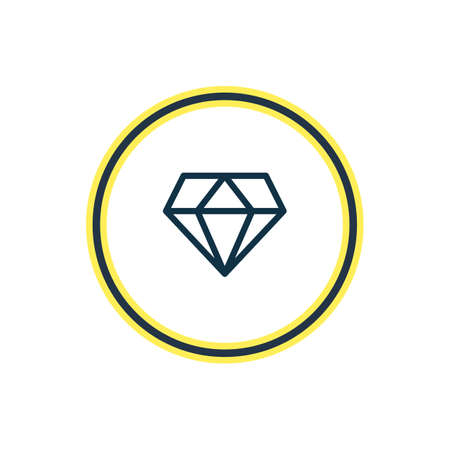 Vector illustration of diamond icon line. Beautiful party element also can be used as brilliant icon element. 向量圖像