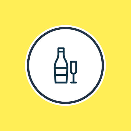 Vector illustration of beverage icon line. Beautiful events element also can be used as drink icon element.