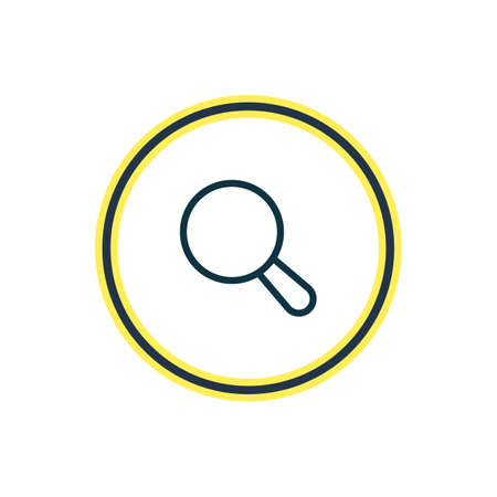 Vector illustration of search icon line. Beautiful app element also can be used as magnifier icon element.