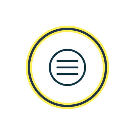 illustration of menu icon line. Beautiful application element also can be used as list icon element. Stock fotó