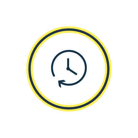 illustration of clock icon line. Beautiful celebrate element also can be used as time icon element.