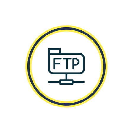 Vector illustration of file transfer protocol icon line. Beautiful internet element also can be used as ftp icon element. Vektorové ilustrace
