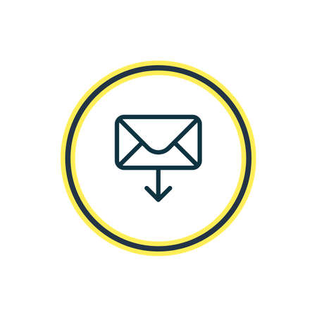 illustration of receive mail icon line. Beautiful connect element also can be used as letter icon element.