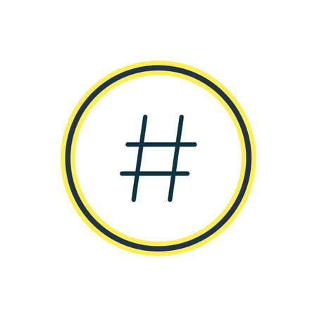 Vector illustration of hashtag icon line. Beautiful annex element also can be used as topic icon element.