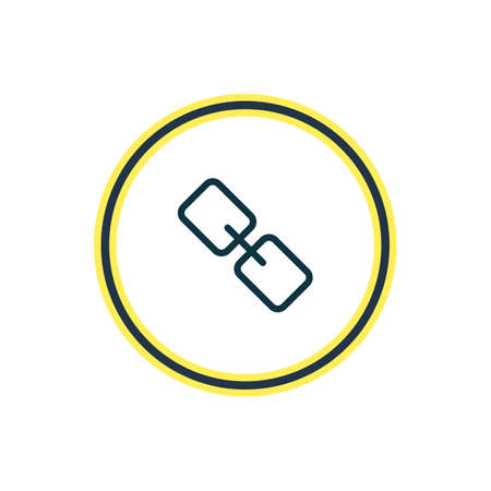 Vector illustration of link icon line. Beautiful app element also can be used as url icon element.