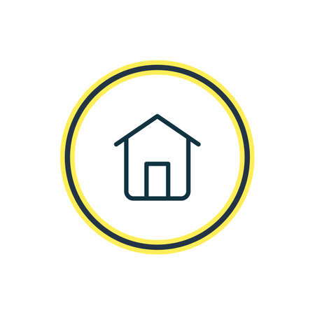 Vector illustration of house icon line. Beautiful community element also can be used as home icon element.