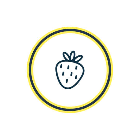 Vector illustration of strawberry icon line. Beautiful party element also can be used as berry icon element. 向量圖像