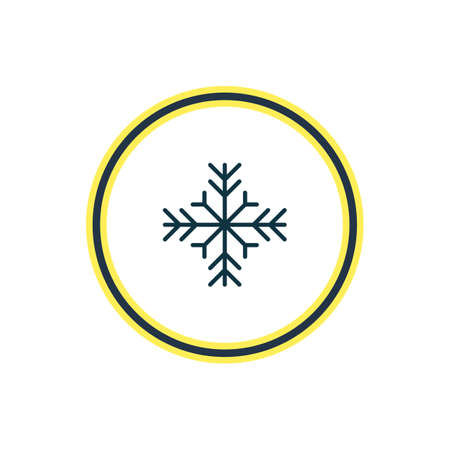 Vector illustration of snowflake icon line. Beautiful weather element also can be used as snow  icon element.