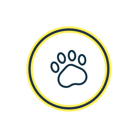 Vector illustration of paw icon line. Beautiful zoo element also can be used as claw print icon element.