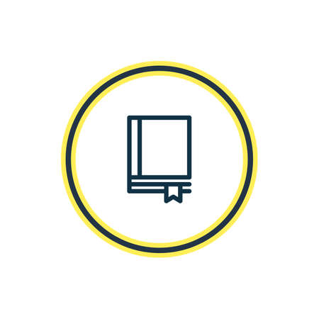illustration of notebook icon line. Beautiful book element also can be used as bookmark icon element.
