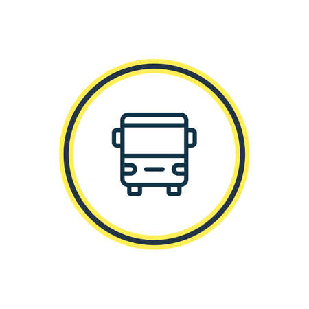 Vector illustration of bus icon line. Beautiful transport element also can be used as autobus icon element.