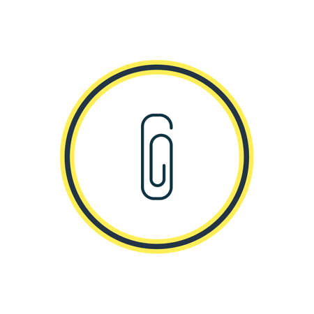 Vector illustration of clip icon line. Beautiful tools element also can be used as paperclip icon element. Illustration