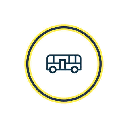 Vector illustration of autobus icon line. Beautiful transport element also can be used as bus icon element. Illustration