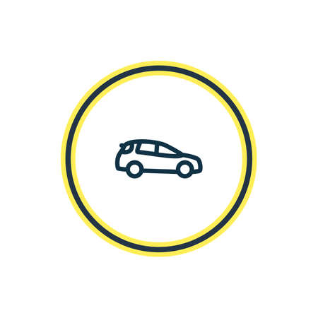 illustration of medium suv icon line. Beautiful transit element also can be used as auto icon element.