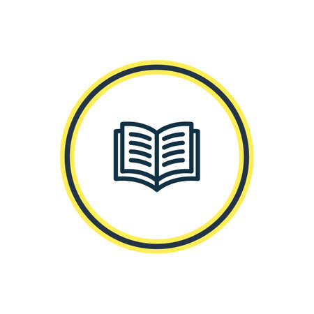 illustration of study icon line. Beautiful book reading element also can be used as learn icon element.