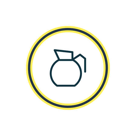 Vector illustration of pot icon line. Beautiful drink element also can be used as decanter icon element.