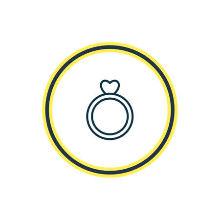 Vector illustration of ring icon line. Beautiful amour element also can be used as engagement icon element.