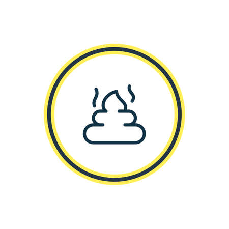 illustration of pet poo icon line. Beautiful zoo element also can be used as dung icon element.