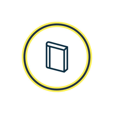 Vector illustration of book icon line. Beautiful book element also can be used as information icon element.